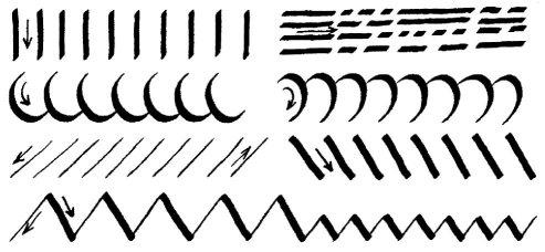Ejercicios de trazo para mejorar caligrafía