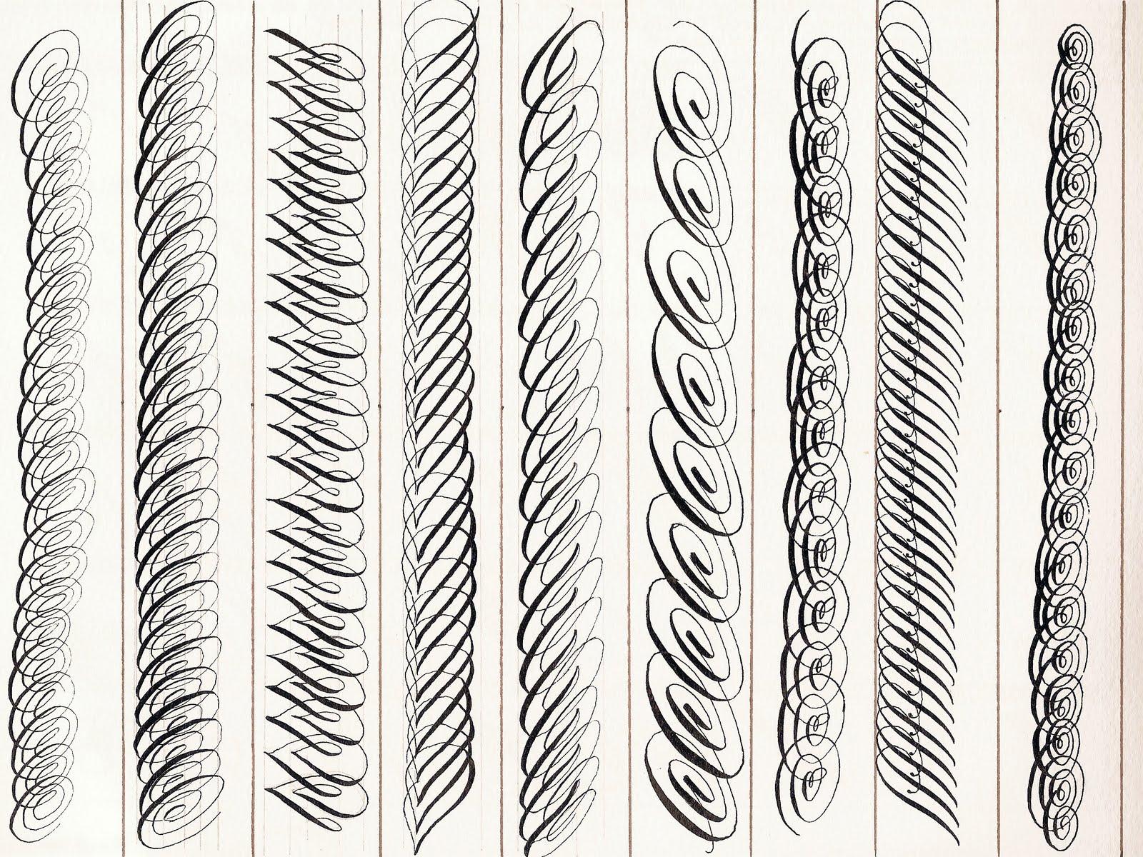 Ejercicios archivos la caligraf a Yukimi annand calligraphy