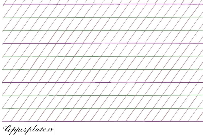 Descargar pauta o guía para ejercicios de caligafía copperplate