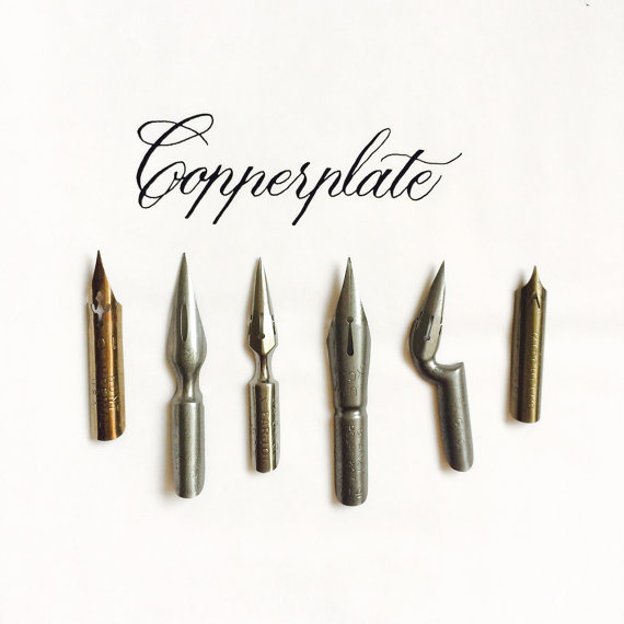 Plumillas Copperplate