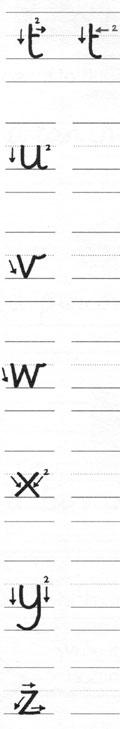 Orden de formación de trazos de letras minúsculas para zurdos 4