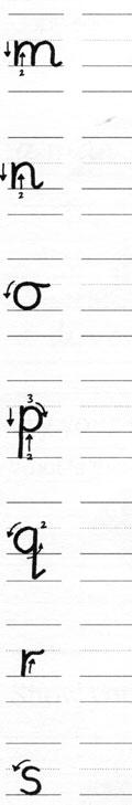 Orden de formación de trazos de letras minúsculas para zurdos 3
