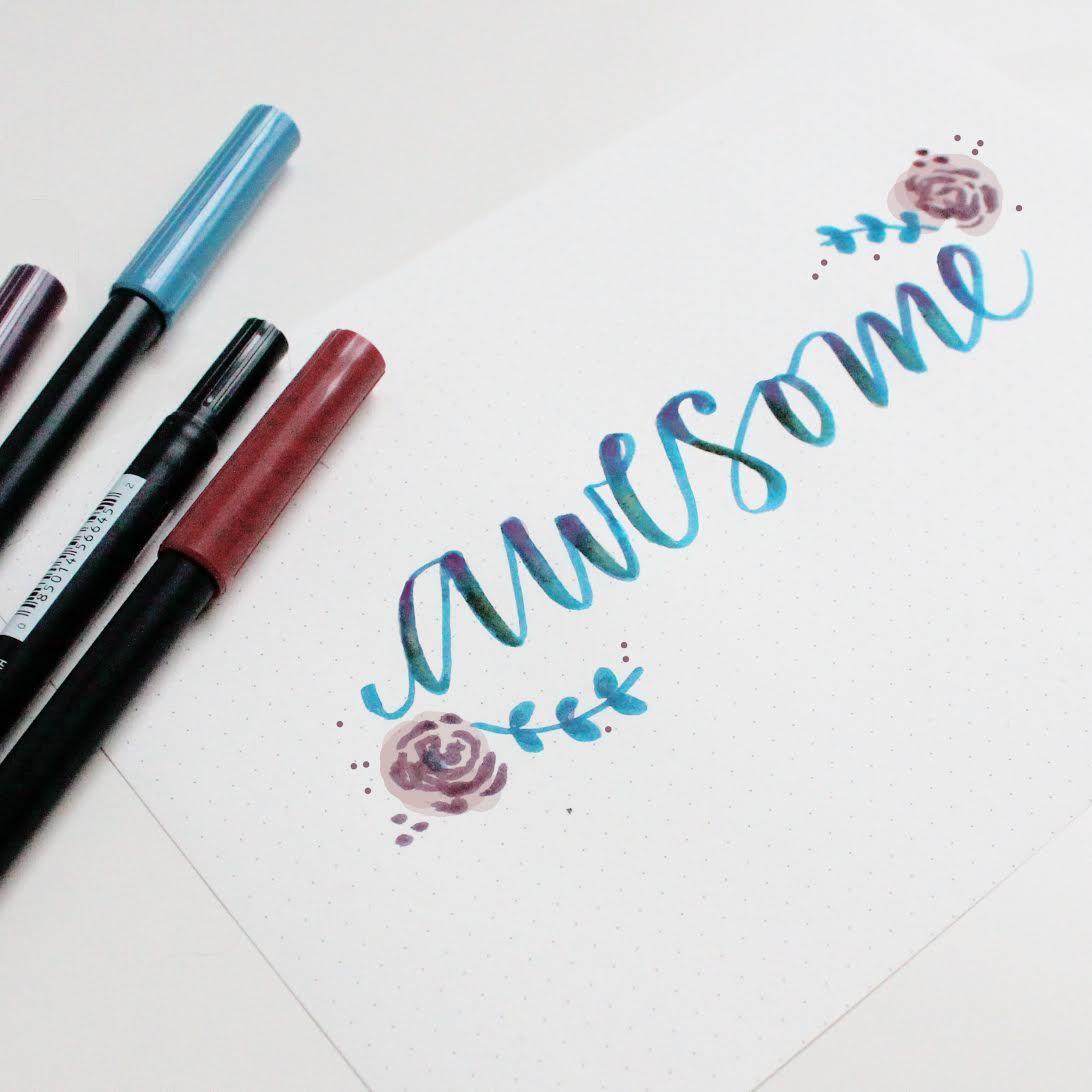 Ejemplos caligrafía con rotulador pincel Tombow 2