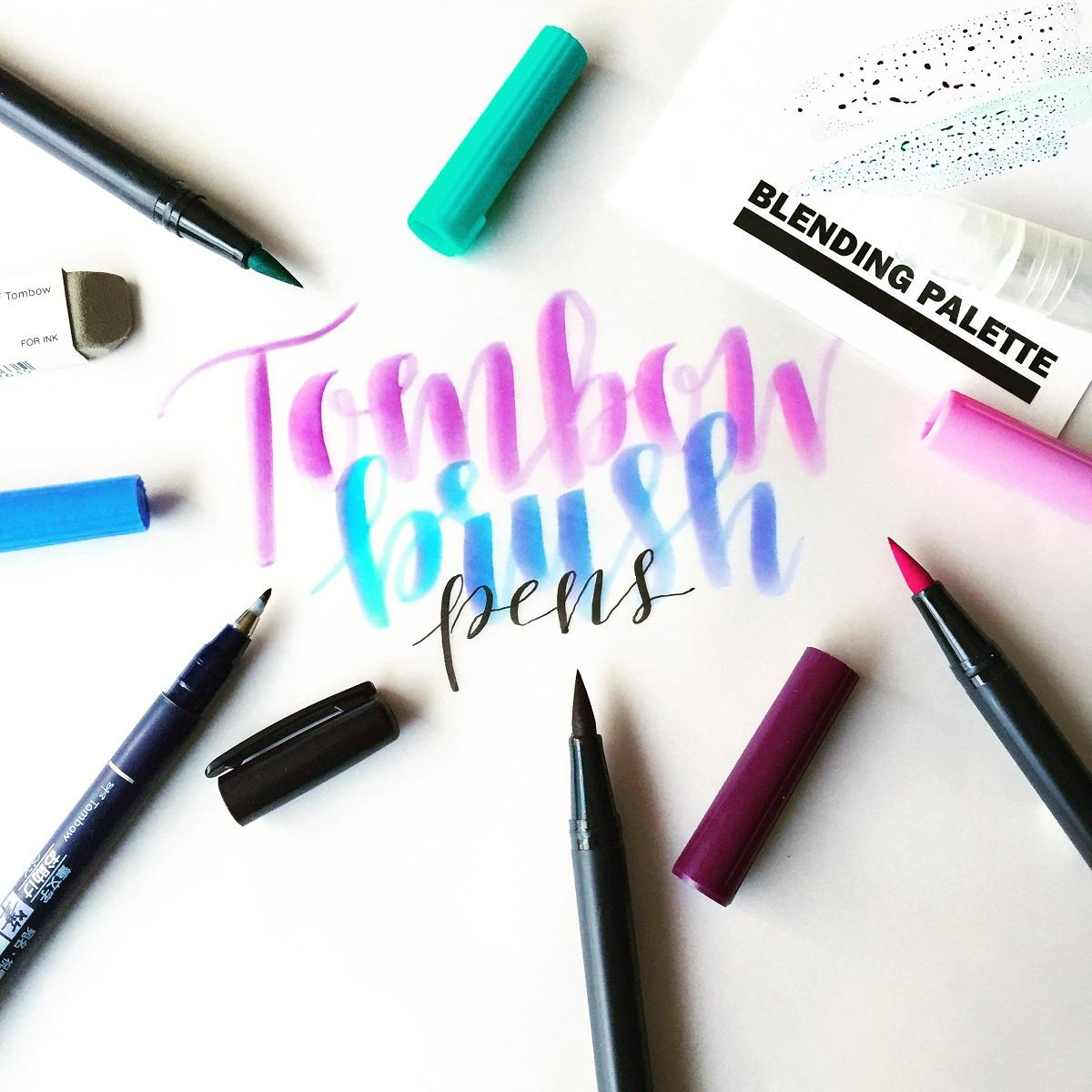 Ejemplos caligrafía con rotulador pincel Tombow