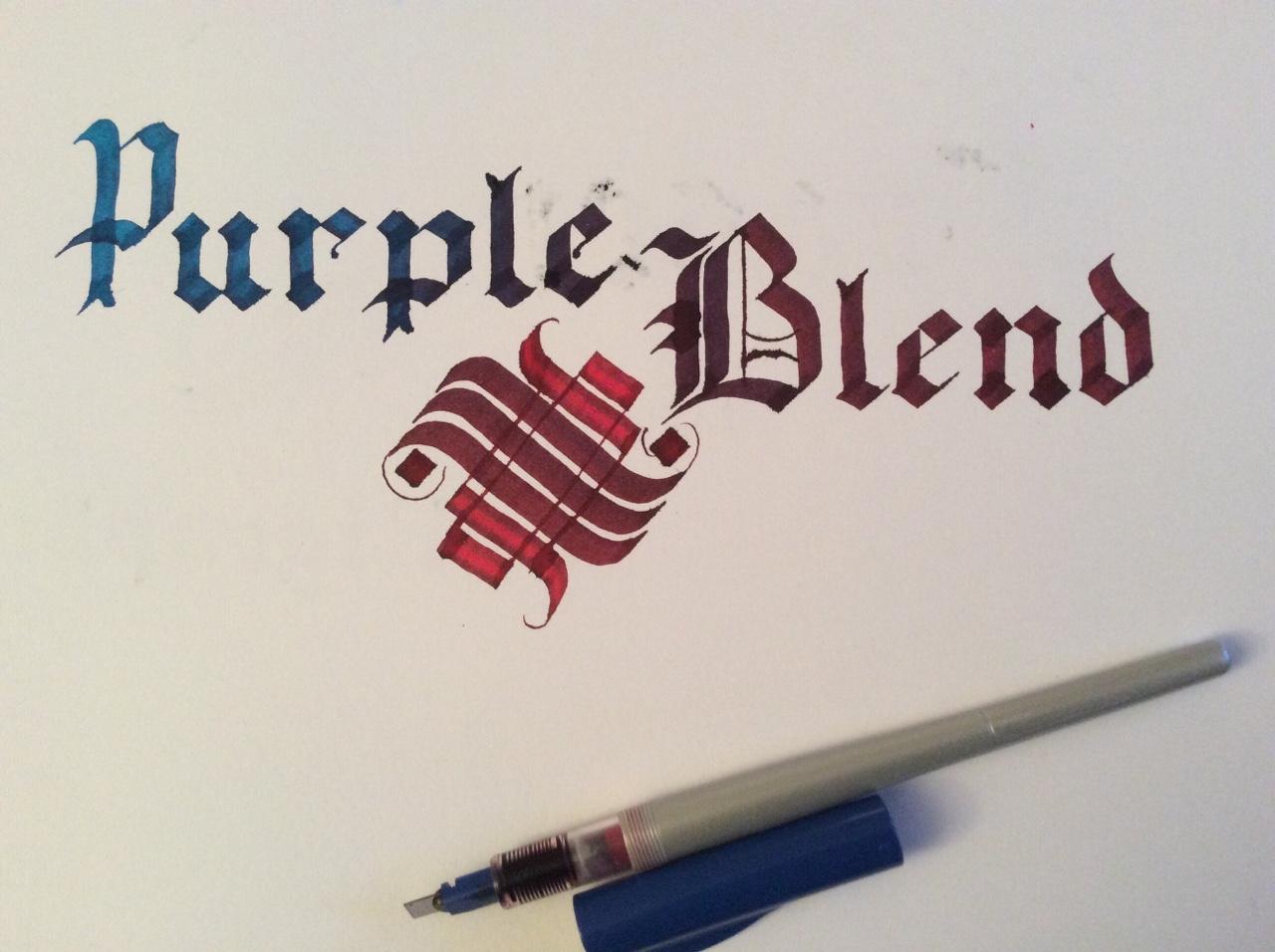 Caligrafía degradado colores o blending con Parallel Pen