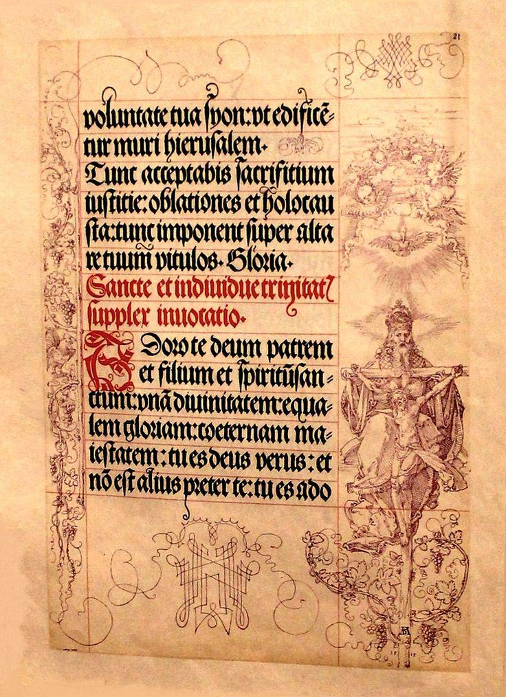 Libro de oraciones de Maximiliano con alfabeto gótico Fraktur Durero