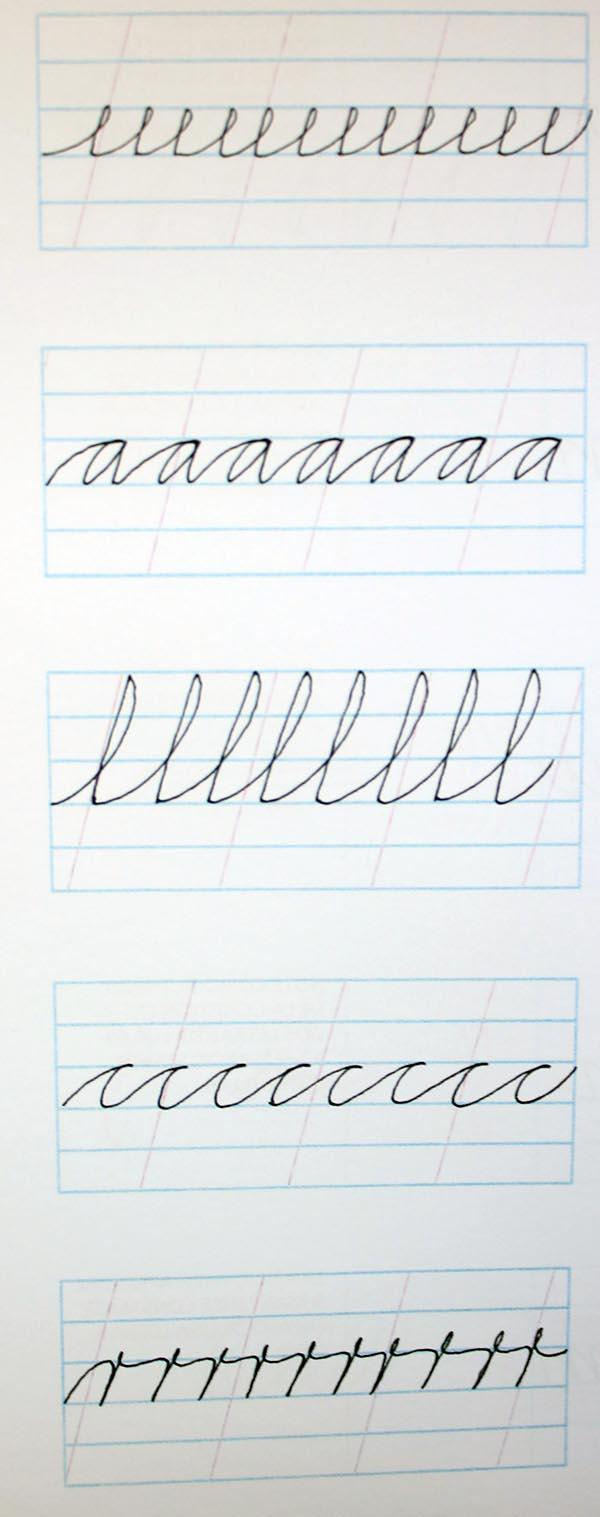 Ejercicios para mejorar caligrafía cursiva 4