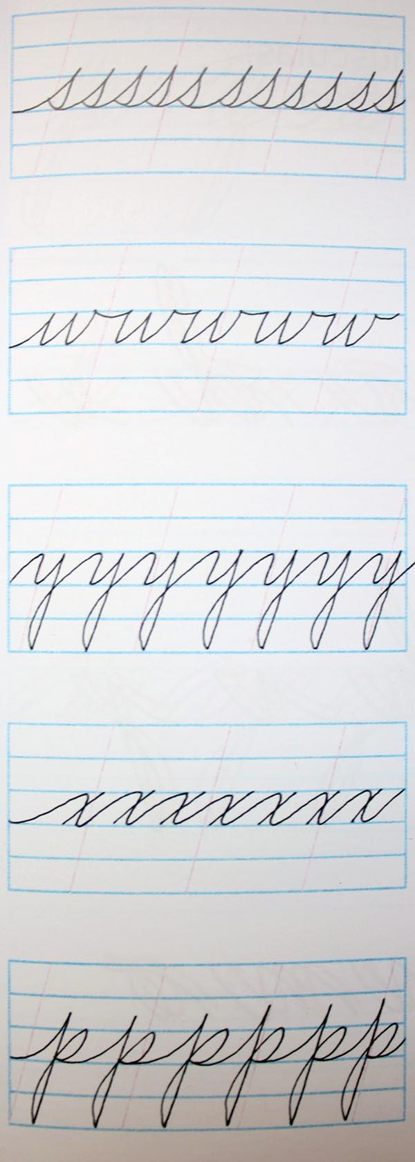 Ejercicios para mejorar caligrafía cursiva 5