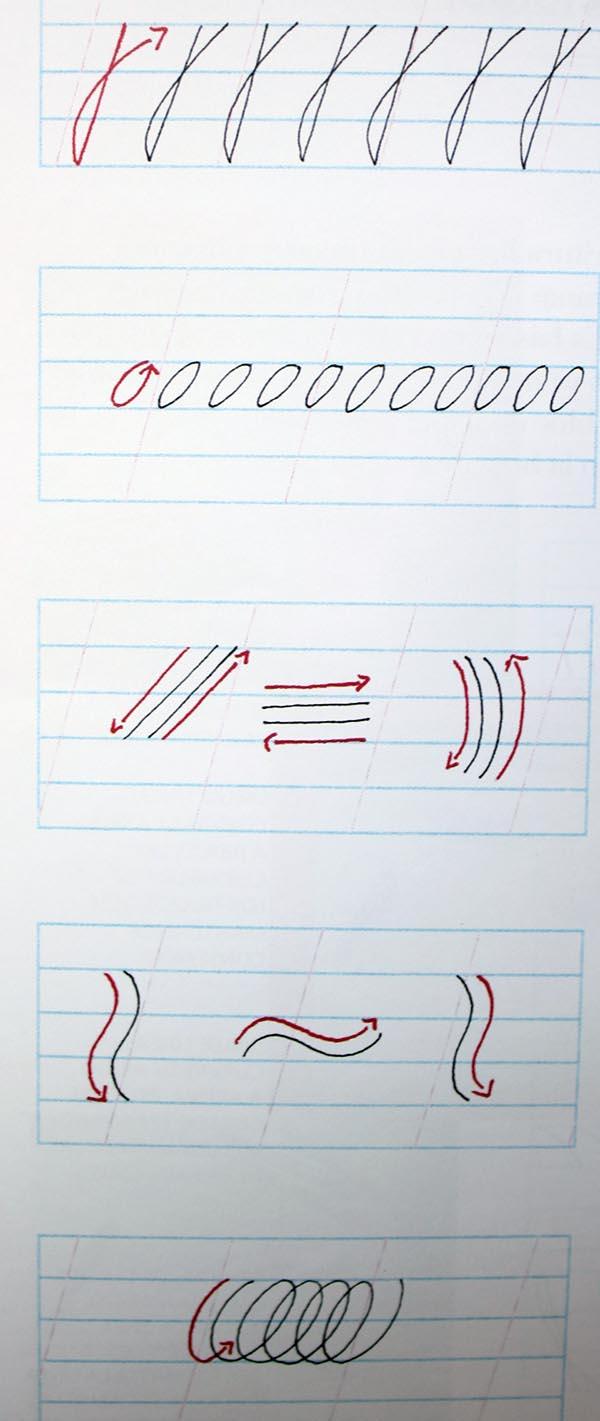 Ejercicios para mejorar la caligraf a en cursiva con bol grafo de punta fina la caligraf a - Como mejorar la caligrafia ...