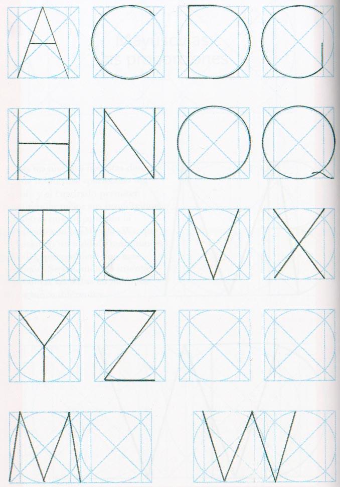 Proporciones geométricas alfabeto romano 1