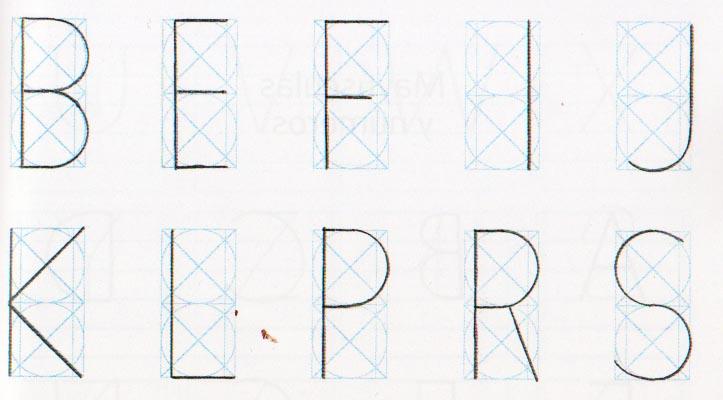 Proporciones geométricas alfabeto romano 2