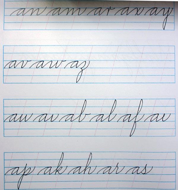 Ejercicios para mejorar la caligraf a en cursiva secuencia de trazos y ligaduras la caligraf a - Como mejorar la caligrafia ...