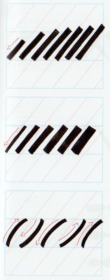 Ejercicios caligrafía brushscript 2
