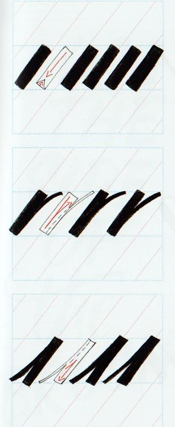 Ejercicios caligrafía brushscript 4