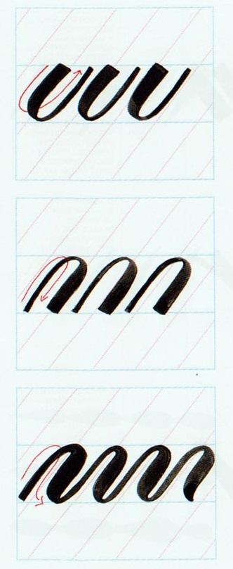 Ejercicios caligrafía brushscript 5