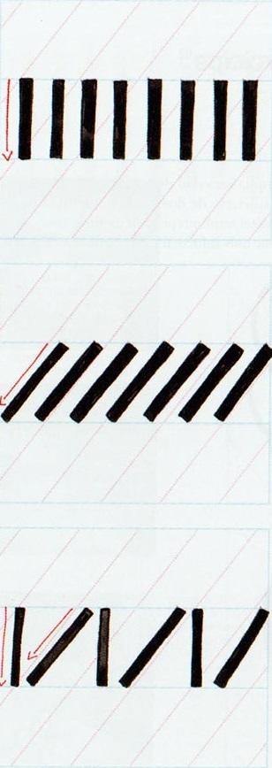 Ejercicios caligrafía brushscript