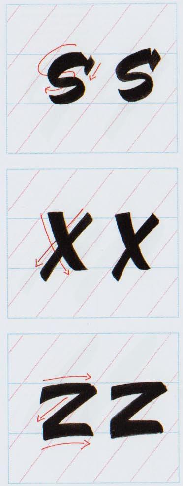 Alfabeto Brush Script 8