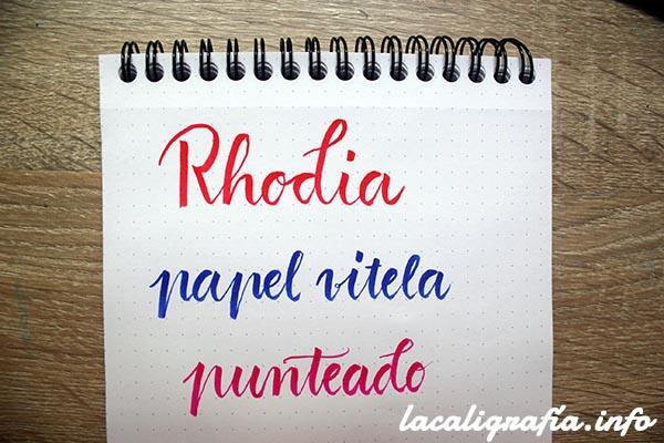 Mejor papel practicar caligrafía Rhodia punteado 2