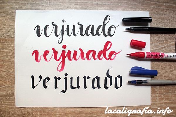 Papel verjurado para caligrafía