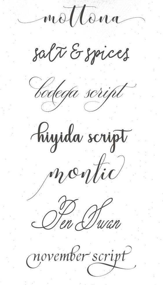 Caligrafía ara tatuajes escrita a mano