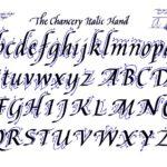 Caligrafía itálica: origen, características, alfabeto y ejercicios