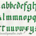 Caligrafía Gótica Textura paso a paso