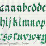 Tutorial para aprender a escribir caligrafía gótica Fraktur paso a paso