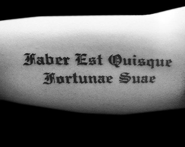 Letras para tatuajes gótica