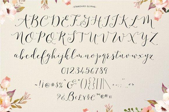 Alfabeto caligrafía moderna mayúsculas y minúsculas