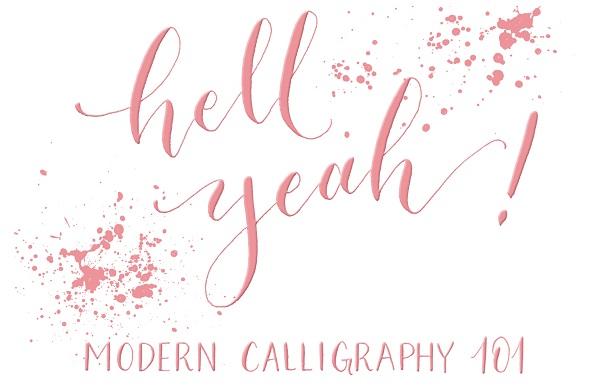 Ejemplo frase caligrafía moderna 2