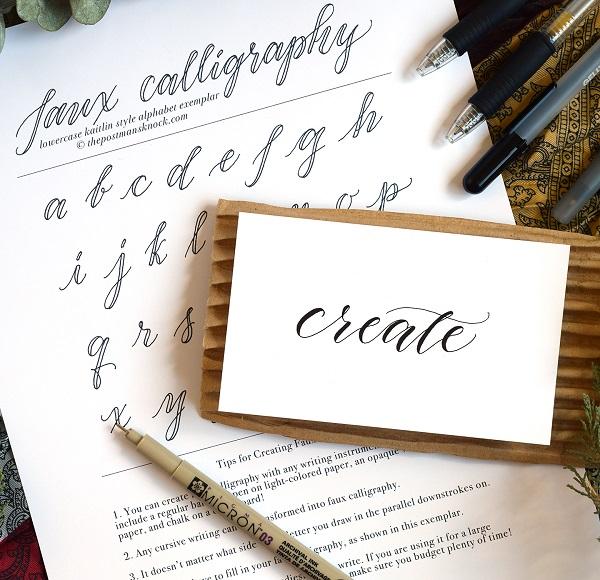 Falsa caligrafía moderna