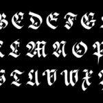 Tutorial para aprender a escribir caligrafía gótica Fraktur en mayúsculas paso a paso