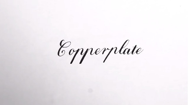 Caligrafía Copperplate