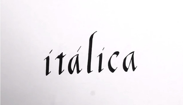 Caligrafía itálica