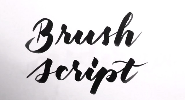 Caligrafía Brush Script