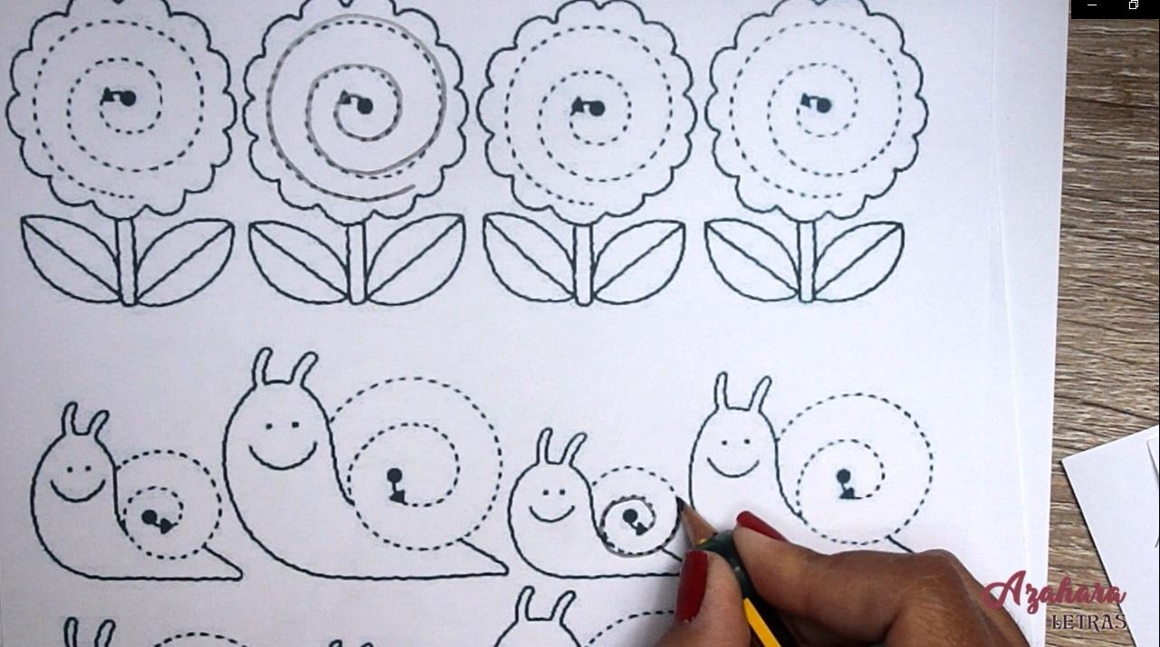 Ejercicios grafomotricidad para niños espirales