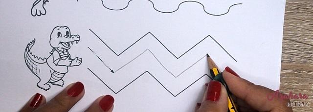 Ejercicios grafomotricidad para niños diagonales y zigzag