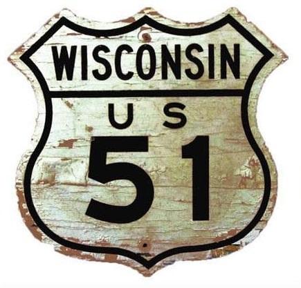 Señal US 51 Wisconsin