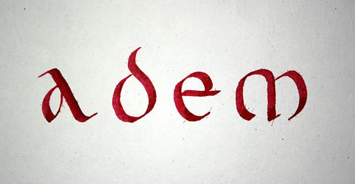 Adem caligrafía uncial