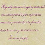 Frases de cumpleaños para un padre con caligrafía cursiva