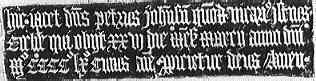 Texto original en Gótica Textura Quadrata siglo XV