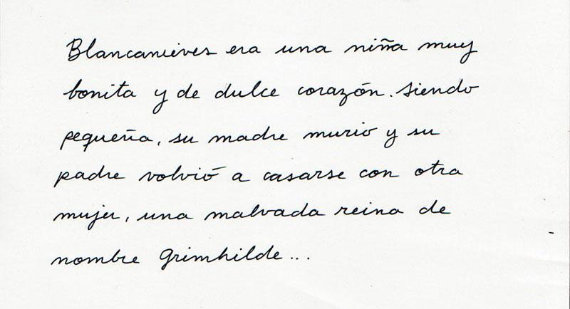 Caligrafía para cuentos infantiles, letra a mano