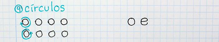 trazos básicos mejorar letra para zurdos círculos