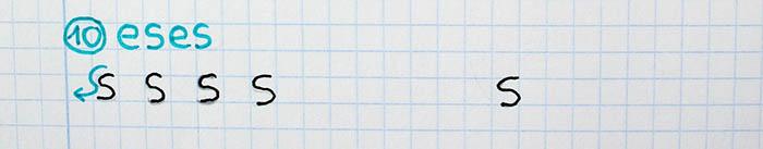 trazos básicos mejorar letra para zurdos eses