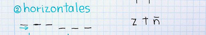 trazos básicos mejorar letra para zurdos horizontales
