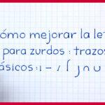 Trazos Básicos para Mejorar la Letra para Zurdos – Curso de caligrafía para zurdos – Lección 2