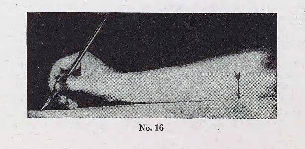 Método Palmer de caligrafía lección 2 posición mano