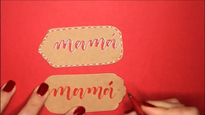 Caligrafía para etiquetas, caligrafía moderna