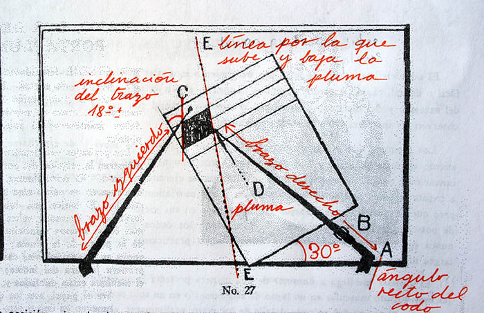 Método Palmer de caligrafía lección 3 posición folio 2