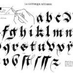 Caligrafía Gótica Bastarda (Gothique Bâtarde) con Tutorial